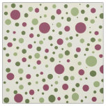 Green and Purple Polka Dot Fabric on White
