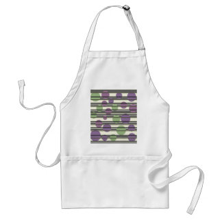 Green and purple simple pattern standard apron