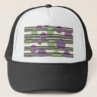 Green and purple simple pattern trucker hat