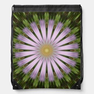 Green and Purple Starburst Drawstring Backpack