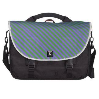 Green and Purple Stripes Commuter Bags