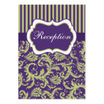 Green and Purple Stripes & Damask Enclosure Card