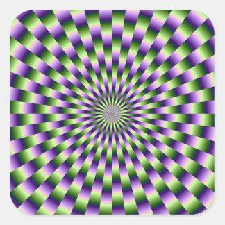 Green and Purple Weave Sticker