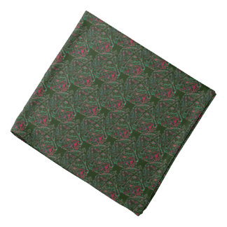 Green and Red Bell Patterned Bandana
