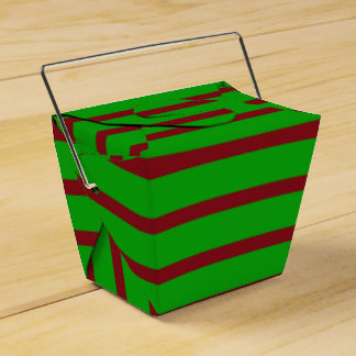 Green and Red Christmas Favor Box