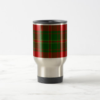 Green and Red Clan Hay Tartan Travel Mug