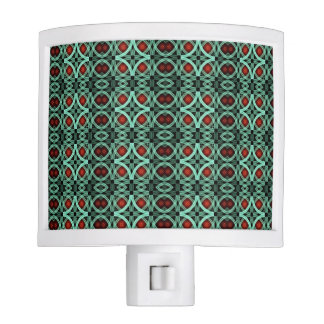 Green And Red Geometric Design Night Lites