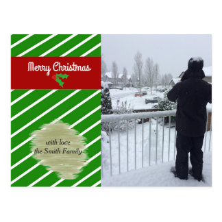 Green and Red Holiday Photo Card