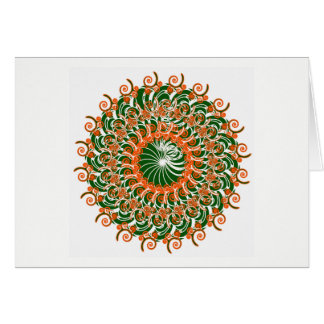 Green and red kaleidoscope heaven card