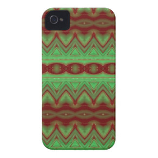 Green and red Native American Pattern case
