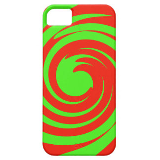 Green and red swirl iPhone 5 covers