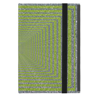 Green and Silver Sparkle Optical Illusion iPad Mini Case