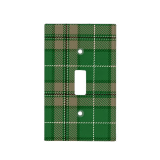 Green and Tan Tartan Plaid Light Switch Cover