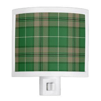 Green and Tan Tartan Plaid Nite Lights