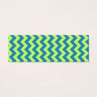 Green and Teal Chevron Bookmark Mini Business Card