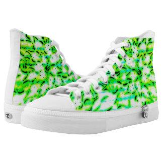 Green and White Aloe High Tops