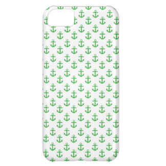 Green and White Anchors Pattern Case-Mate iPhone Case