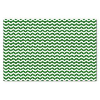 Green and White Chevron Pattern Tissue Paper