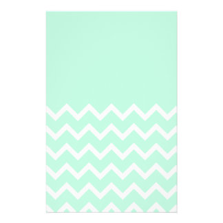Green and White Chevron Pattern with Plain Green Personalized Flyer