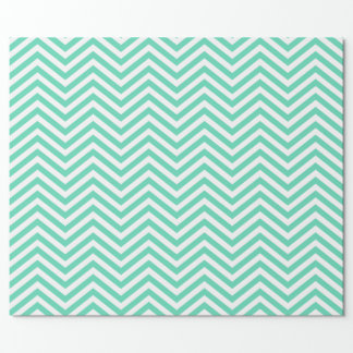 Green and White Chevron Wrapping Paper
