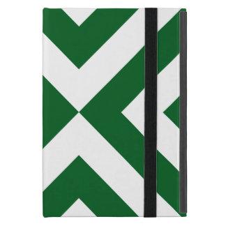 Green and White Chevrons iPad Mini Case