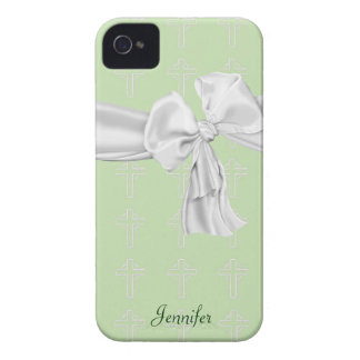 Green and White Christian iPhone 4 Case