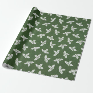 Green and White Christmas Wrapping Paper