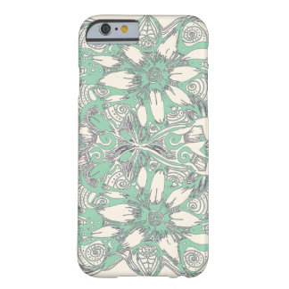 Green and White Cosmic Flower Explosion Barely There iPhone 6 Case