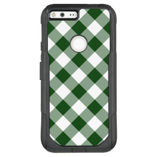 Green and White Diagonal Plaid OtterBox Commuter Google Pixel XL Case