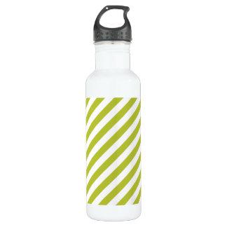 Green and White Diagonal Stripes Pattern