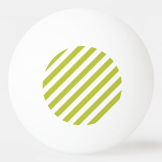 Green and White Diagonal Stripes Pattern Ping Pong Ball