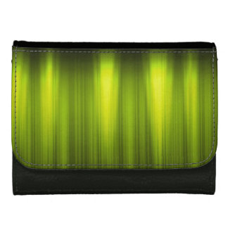 Green and White Energy - Black Faux Leather Wallets