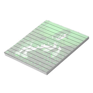 Green and White Fantasy Clydesdale Horse Print Notepad