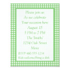 Green and White Gingham - All Purpose Party Invite