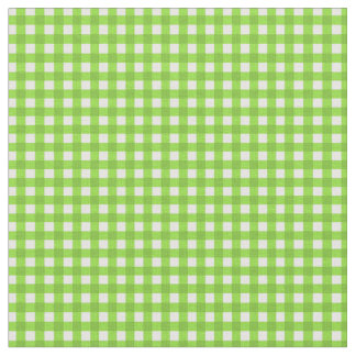 Green and white gingham fabric