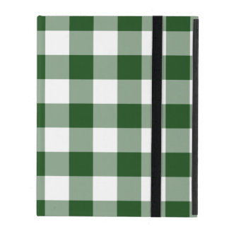 Green and White Gingham Pattern Case For iPad