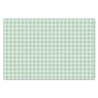 Green and white Gingham plaid Tissue Paper