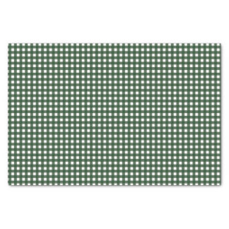 Green and White Gingham Tissue Paper