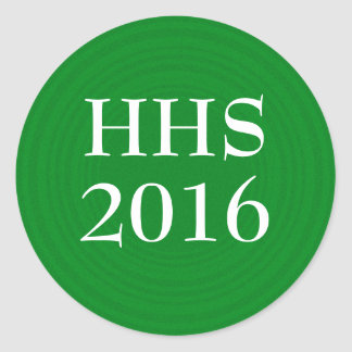 Green and White Graduation Year Sticker