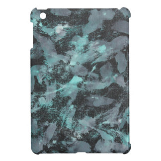 Green and White Ink on Black Background iPad Mini Covers