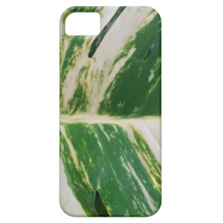 Green and White Leaf Design Product iPhone 5 Case