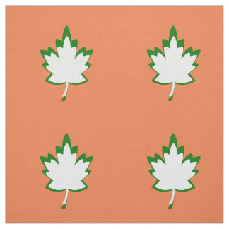 Green and White Leaf Pima Cotton (54 width) Fabric