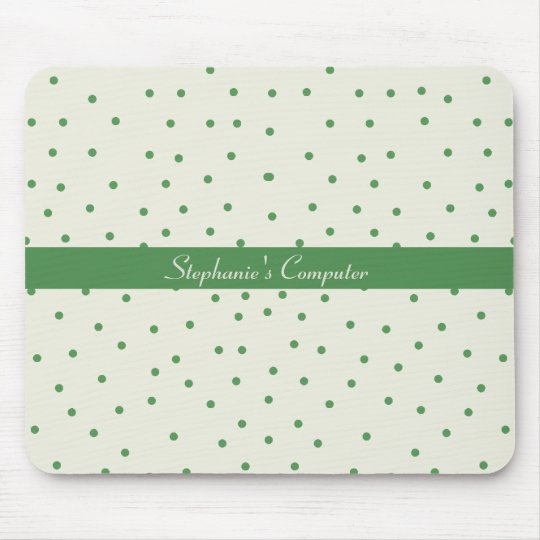 Green and White Mousepad