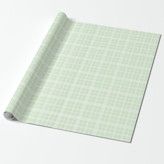 Green   and White Plaids Wrapping Paper
