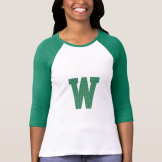 Green and White Polka Dot Monogram T-Shirt