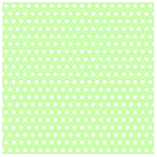 Green and White Polka Dot Pattern. Spotty. Photo Cut Outs