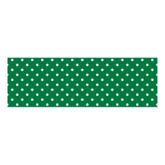 Green and White Polka Dots Pack Of Skinny Business Cards