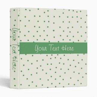 Green and White Polkadot Binder