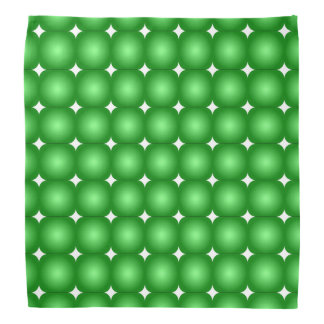 Green And White, Round Edges Bandana