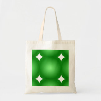 Green And White, Round Edges Tote Bag